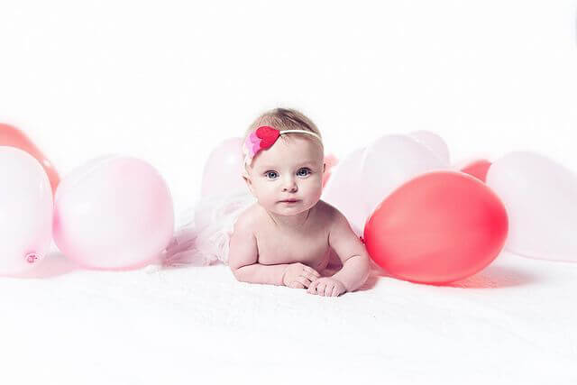 Baby with Balloons Newborn Photography at Cobalt Studios PDX Portland